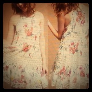 Anthropologie Ranna Gill Floral Lace Dress